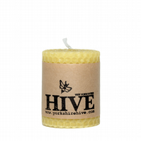 Hand-rolled beeswax pillar candles