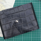 Handmade Leather Journal with Watercolour Paper - Size 8 x 6 - Black
