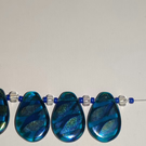 Handmade blue drop Czech glass necklace with crystal and blue seed beads