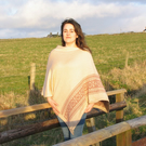 Nordic Star Collection Poncho- Blush and Rose Gold