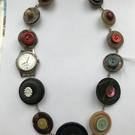 Vintage button and watch face necklace (12)