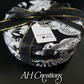 Decoupage solid slate decorated coasters