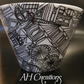 Abstract decoupage small bowl, pot