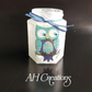 OWL battery tea light jar