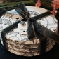 Women decoupaged slate coasters