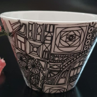Abstract Snack bowl or succulent plant pot