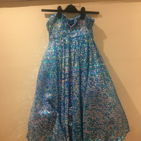 Little girl's size 13 blue sequence costume dress