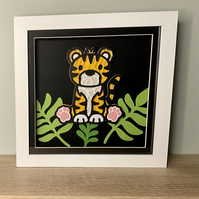 3D Layered Paper Jungle Tigger - perfect for any child's room