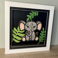 3D Layered Paper Jungle Elephant - perfect for any child's room