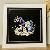 Layered Paper Unicorn On A Cloud - a perfect gift for any unicorn lover