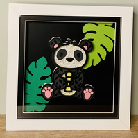 3D Layered Paper Jungle Panda - perfect for any child's room