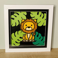 3D Layered Paper Jungle Lion - perfect for any child's room