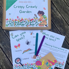 Kids activity box, garden set for kids, grow your own creepy crawly garden