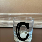 Personalised whisky glass with large Initial and smaller print  Name
