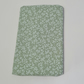 Green flower patterned pocket tissue pack covers