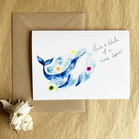 Personalised Card - Whale Illustration