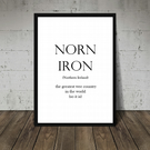Northern Ireland print. Norn Iron. Funny Wall Art. Home Decor. Typography Print.