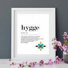Hygge typography print. Wall Art. Definition Print. Home Decor. Mindfulness