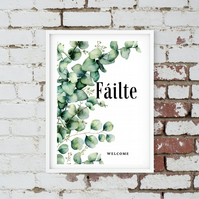Failte Irish Welcome Print. Digital Download. Instant Art. Wall Art.