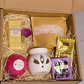 Wax burner & bath hamper gift set