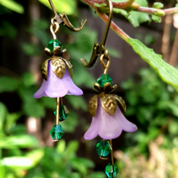 Pretty little Fairy Garden inspired Bell Flower Drop earrings