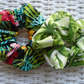 Pack of 2 Handmade Tropical & Leaves Scrunchies.