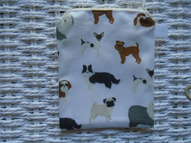 Mixed Dogs Coin Purse or Card Holder.