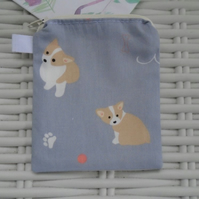Corgi Small Dog Coin Purse or Card Holder.