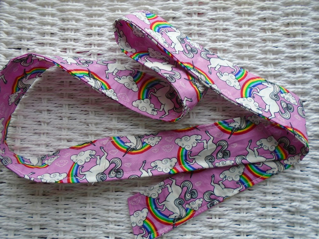 Rainbow Unicorn Cotton Hair Ribbon 100 cm