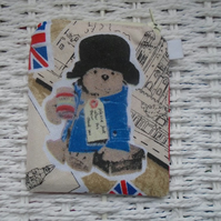 Cute Bear and Union Jack Themed Coin Purse or Card Holder.