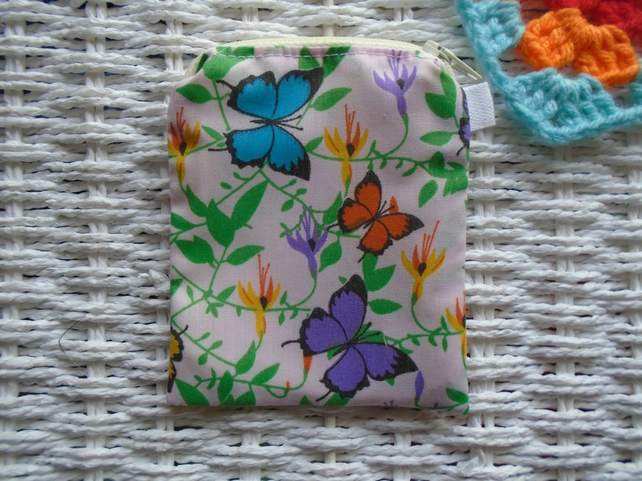 Butterflies Coin Purse or Card Holder.
