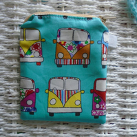 Campervan Themed Coin Purse or Card Holder.