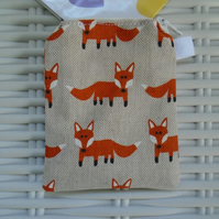 Hessian Fox Coin Purse or Card Holder.