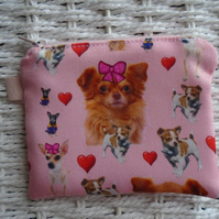 Chihuahua Dogs Purse or Card Holder.