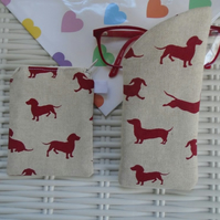 Sausage Dog Glasses Case & Purse Gift Set.