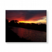 Sunset Norfolk Canvas Print 16 inches x 20 inches