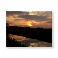 Silver Sunset Norfolk Canvas Print 16 inches x 20 inches