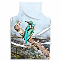 Kingfisher Blue Looking Adult Size Apron