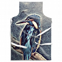 Kingfisher Blue Looking Left Adult Size Apron