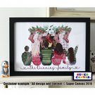 "Personalised Winter Christmas Family 8 X 10"" Print & Framed Options available"