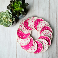 Reusable Make up remover pads - Flamingos