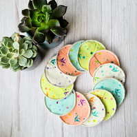 Reusable Make up remover pads - Pastel Birds