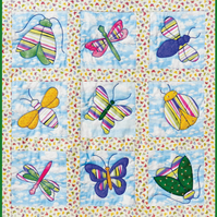 Beautiful Bugs Playmat or Wall Hanging