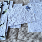 10 Handmade pieces of paper recycled paper, gift tags,book marks,scrapbook paper
