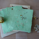 Handmade recycled green eco paper,