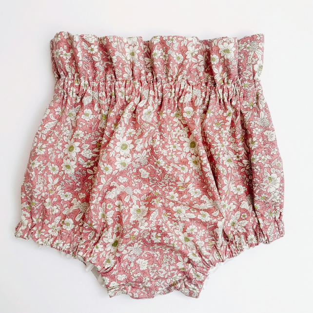 Baby Pink Floral Joanne Bloomers: 12-18 months