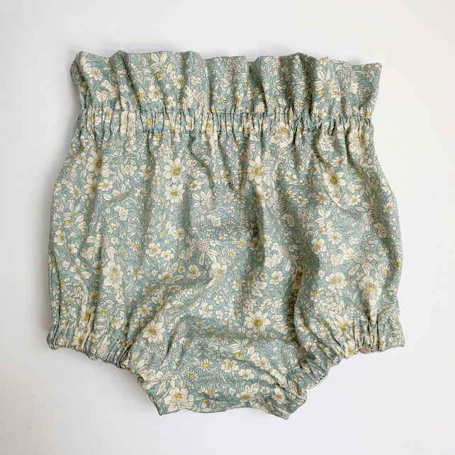 Mint Green Floral Joanne Bloomers: 12-18 months