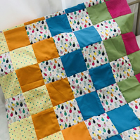 Bright Pineapple Patchwork Blanket