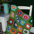 Hand Made Crochet Flower Throw