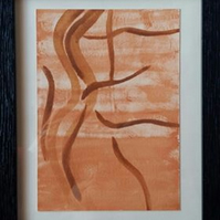 BURROWS –  FRAMED ORIGINAL ART – ABSTRACT ART – CHOICE OF MOUNT COLOUR